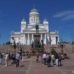 Главная площадь Хельсинки летом