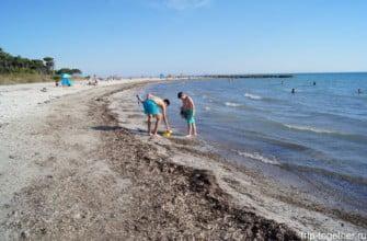 Пляж в Тоскане. Италия