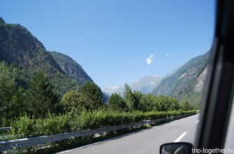 Дорога в Швейцарии