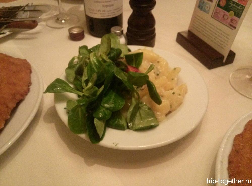 Традиционный немецкий салат из картошки