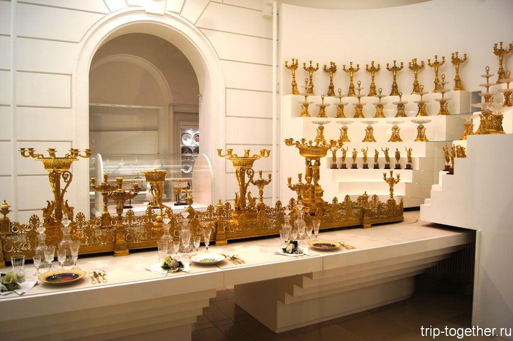 Столовая посуда Габсбургов в Серебряной палате