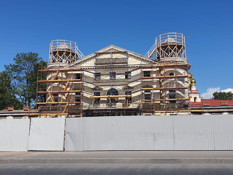 Центральный дом Кушелевой дачи в 2020 году