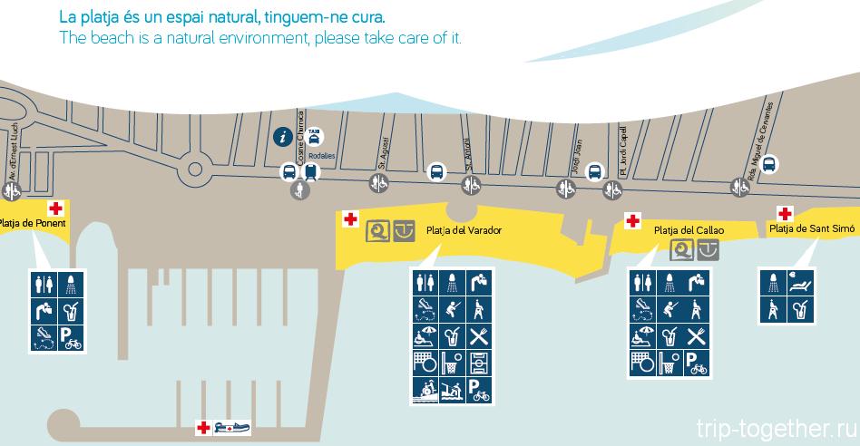 Матаро схема пляжей