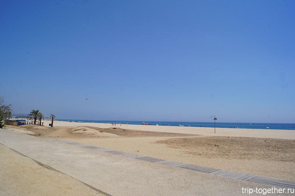Матаро, пляж