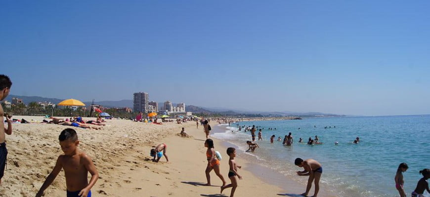 Пляж в Матаро. Каталония