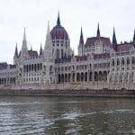 Парламент Будапешта. Вид с Дуная.