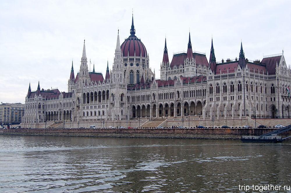 Парламент Будапешта, вид с Дуная