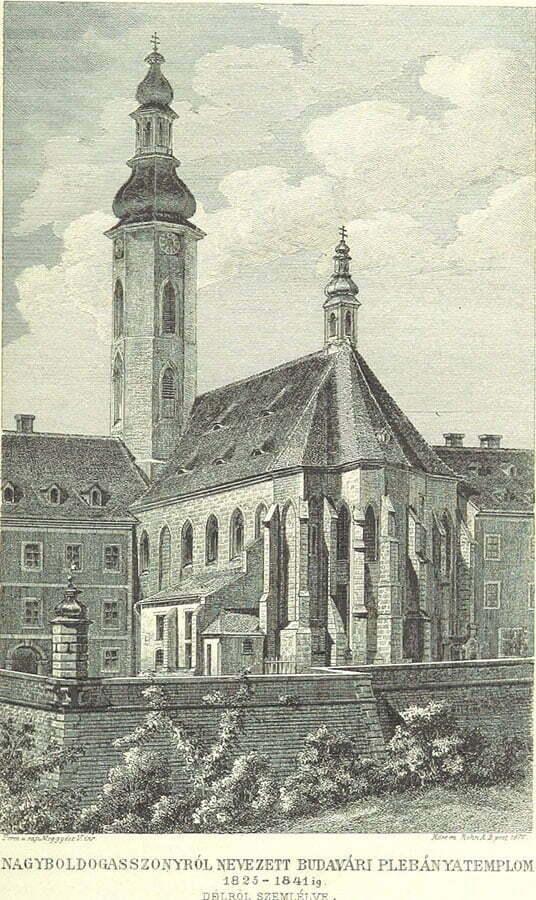 Церковь Матьяша в 1825- 41 годах