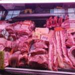 Цены на свинину на Центральном рынке Будапешта