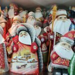 Деревянные Деды Морозы