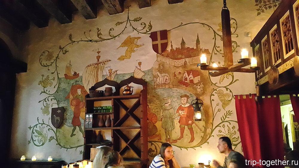 Интерьер ресторана Old Hansa