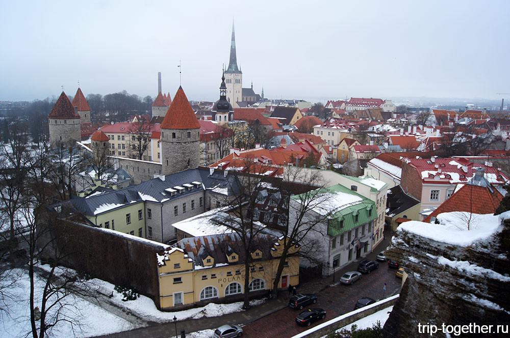 Таллинн со смотровой площадки