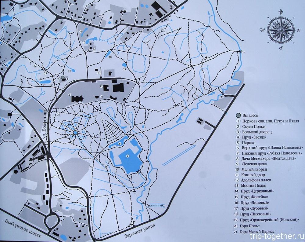 План Шуваловского парка