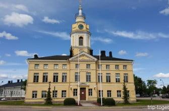 Здание ратуши в Хамине. Финляндия.