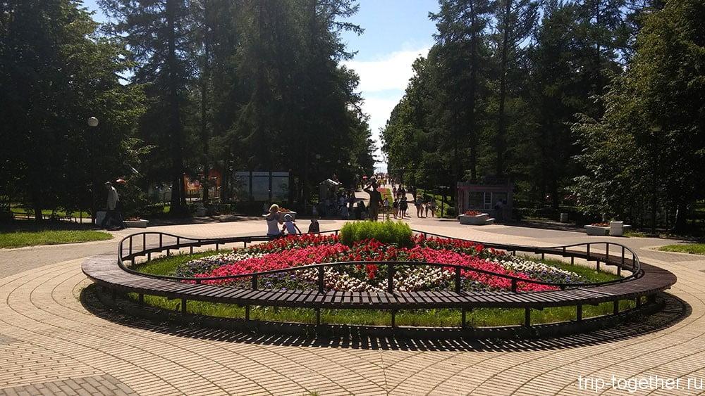 Главная аллея парка в Зеленогорске