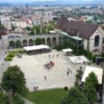 Любляна. Вид с башни Люблянского замка.