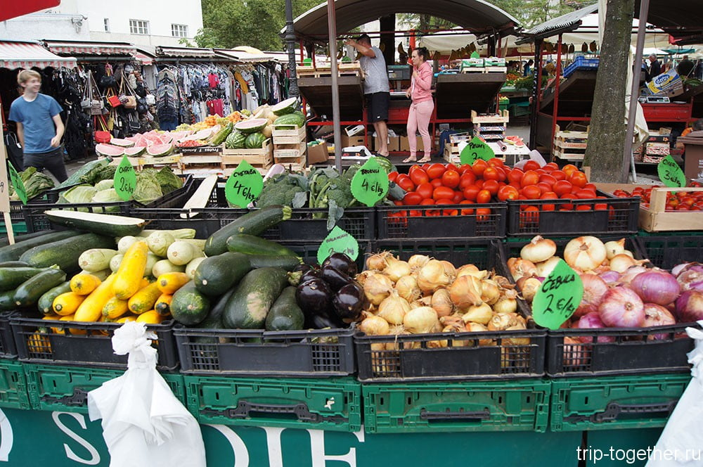 Любляна, субботний рынок