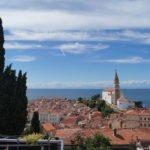 Панорама Пирана. Словения.