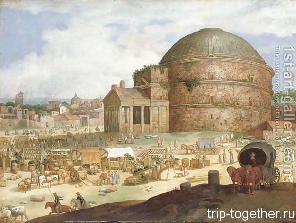 Вид Пантеона, Willem van Nieulandt II (годы жизни 1584-1635)