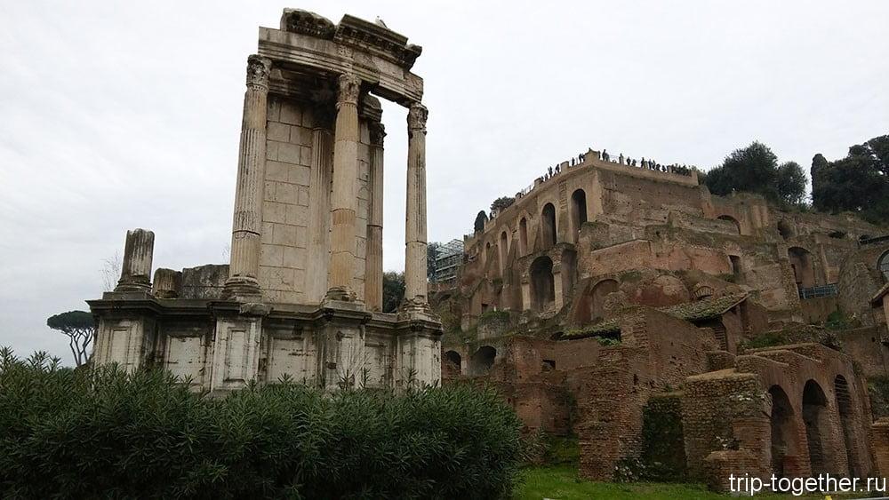 Римский форум, храм Весталок