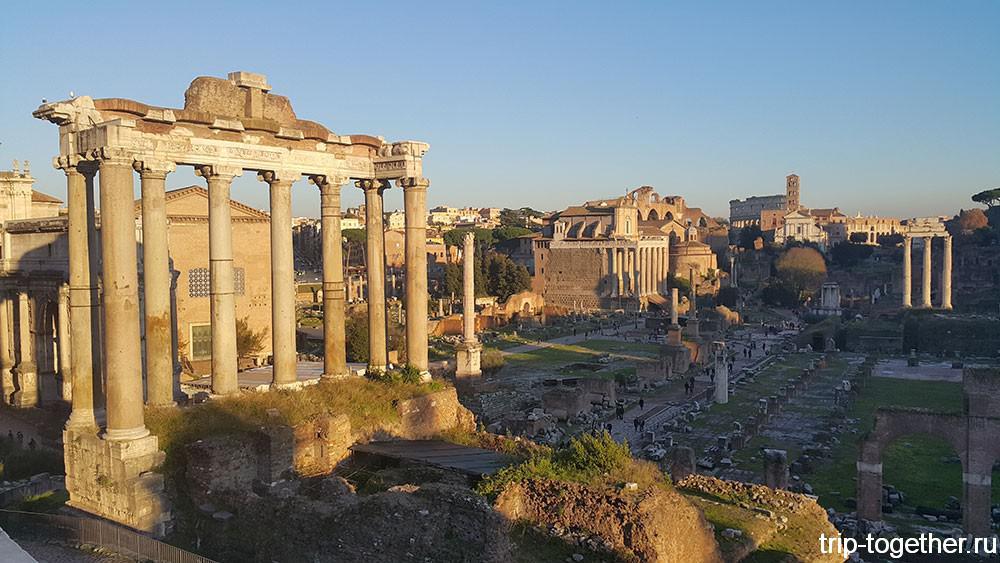 Римский форум, колоннада храма Сатурна