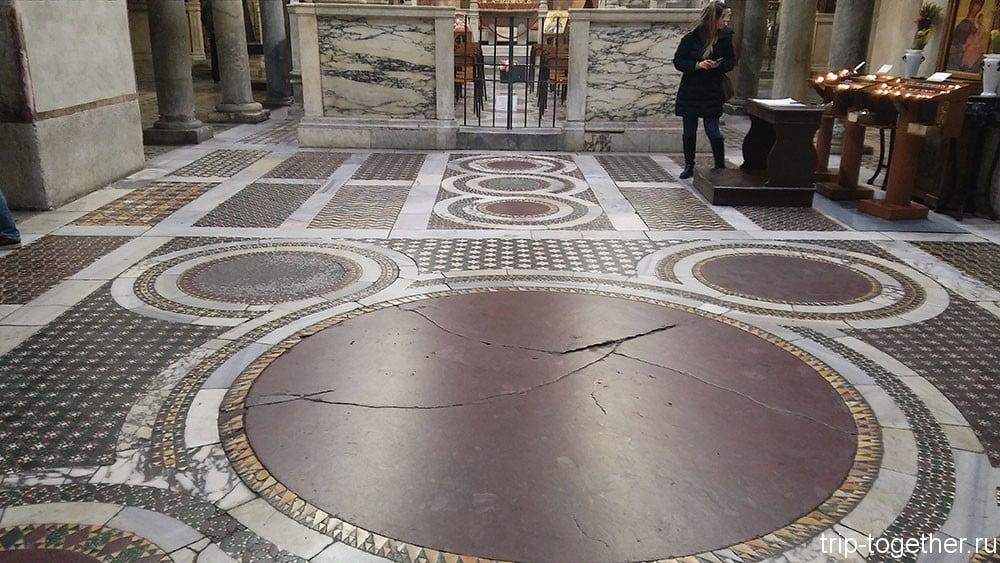 Полы в базилике Санта-Мария-ин-Космедин, Рим