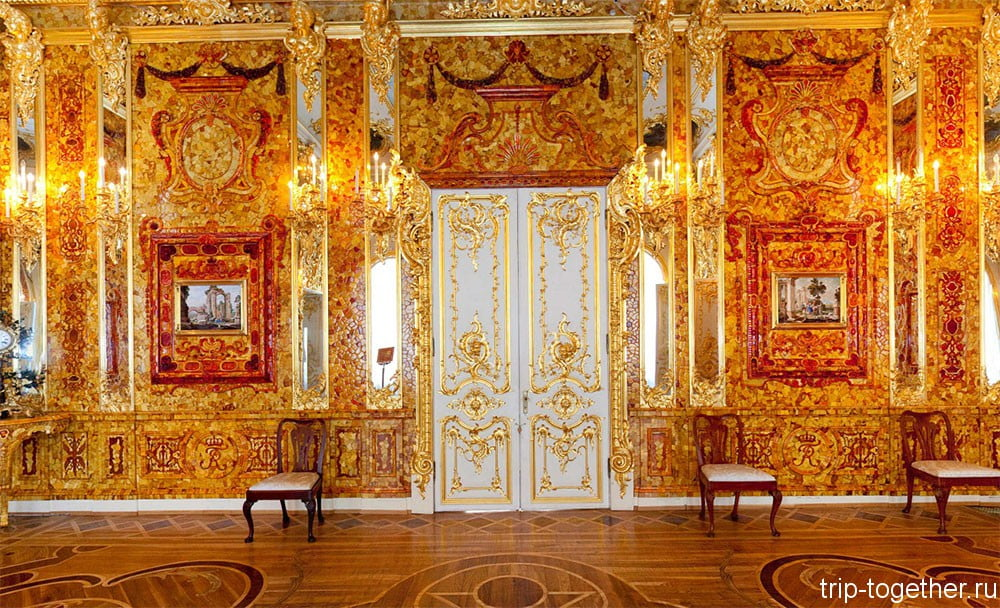 Янтарная комната, Екатерининский дворец