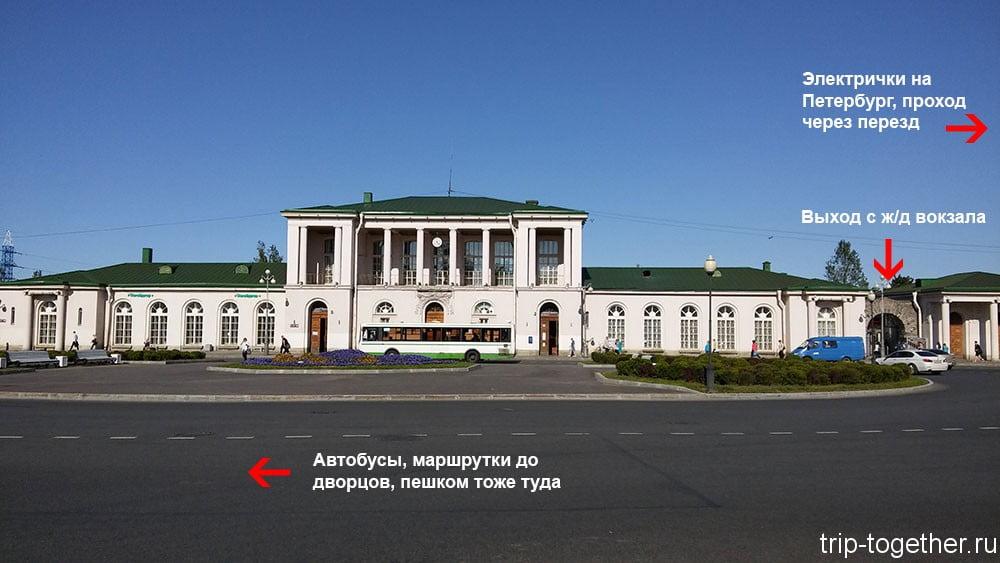 Железнодорожный вокзал Пушкина