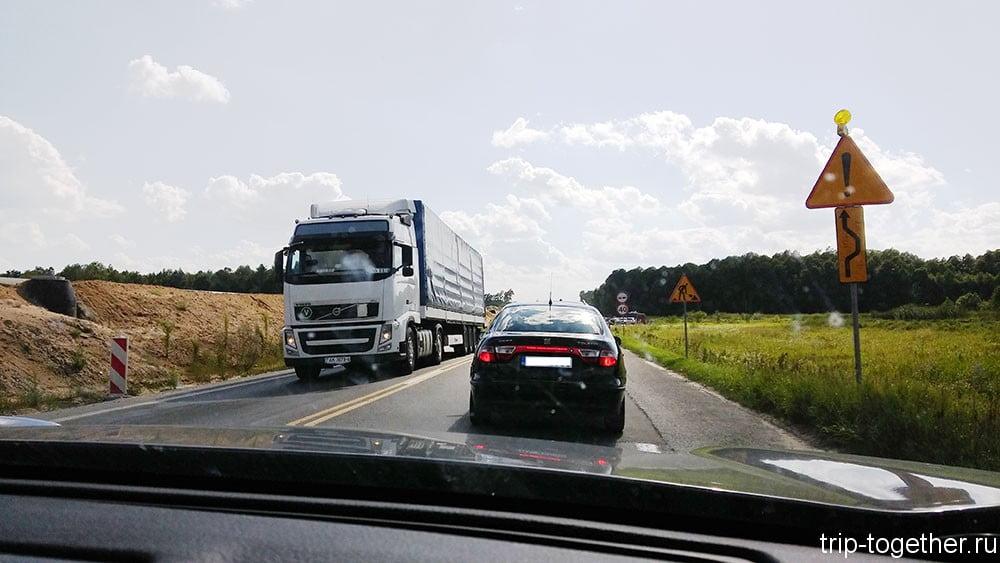 Строительство автострады в Польше