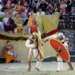 Фрагмент представления битвы гладиаторов
