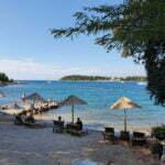 Пляж со стороны Ровиня