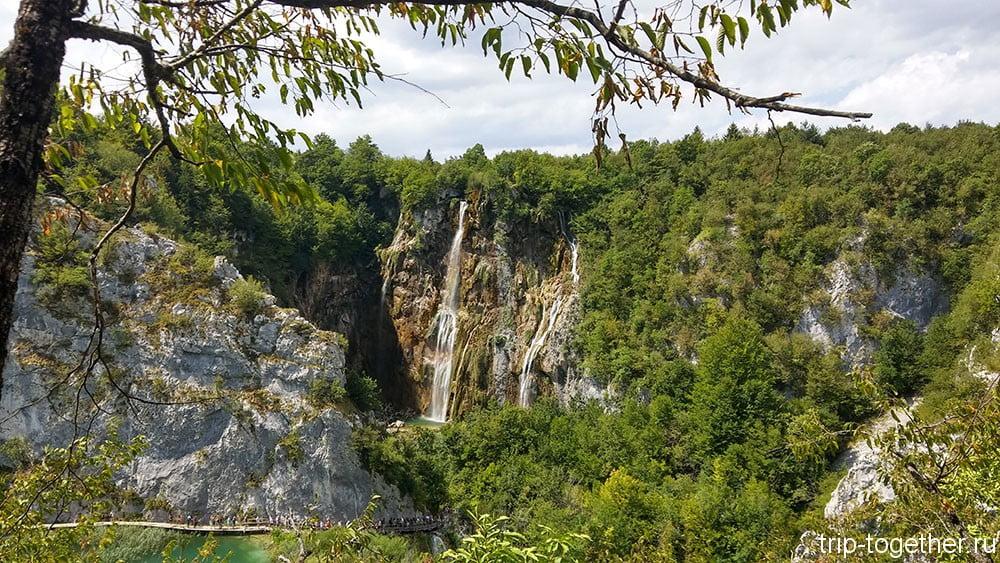Плитвицкие озера, большой водопад