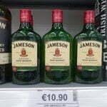 Ирландский виски Jameson - 10.80 евро за пол литра