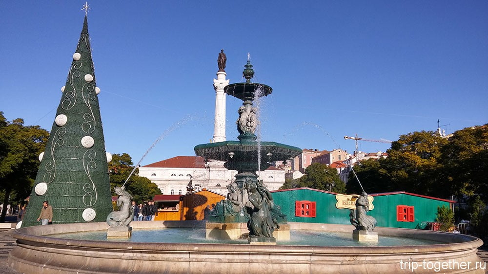 Лиссабон - площадь Росиу