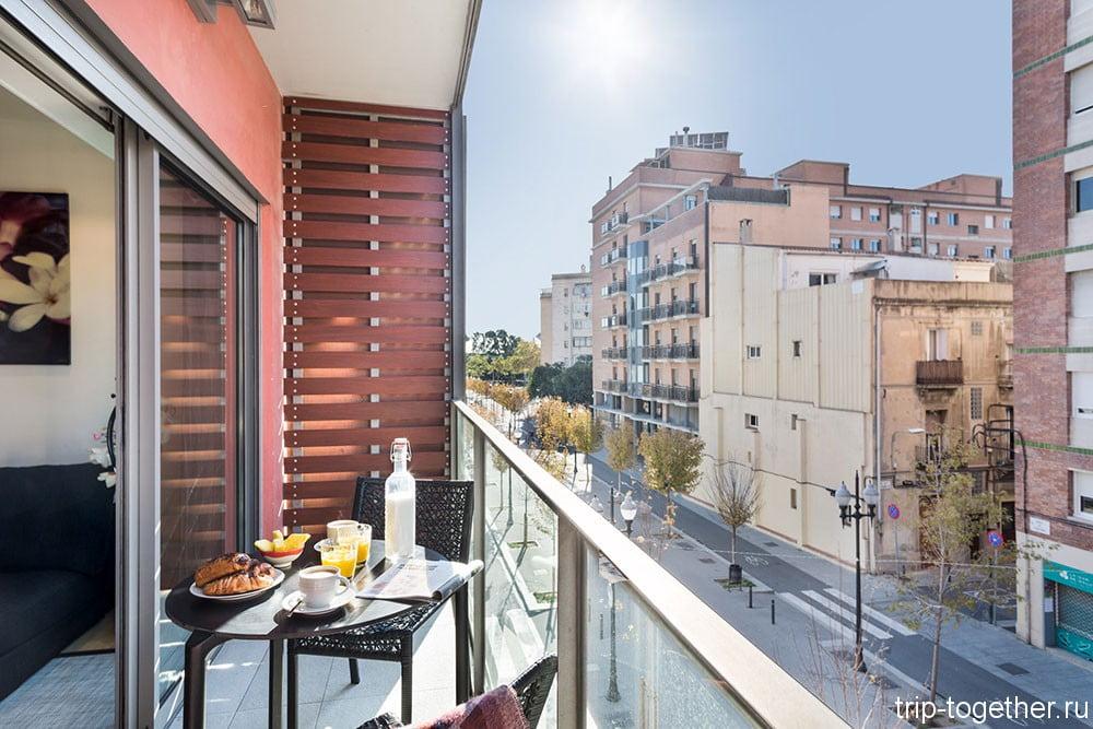 Апартаменты с бассейном в Барселоне