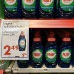 0,65 литра Fairy - 2,49 евро
