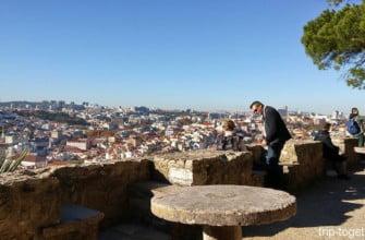 Вид на Лиссабон со стен замка Святого Георгия