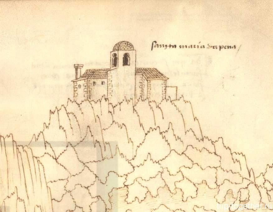 Монастырь Пена, рисунок 16 века