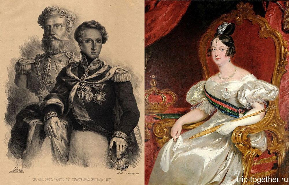 Портреты короля Фердинанда II и его супруги, королевы Марии II, 1830 г.г.