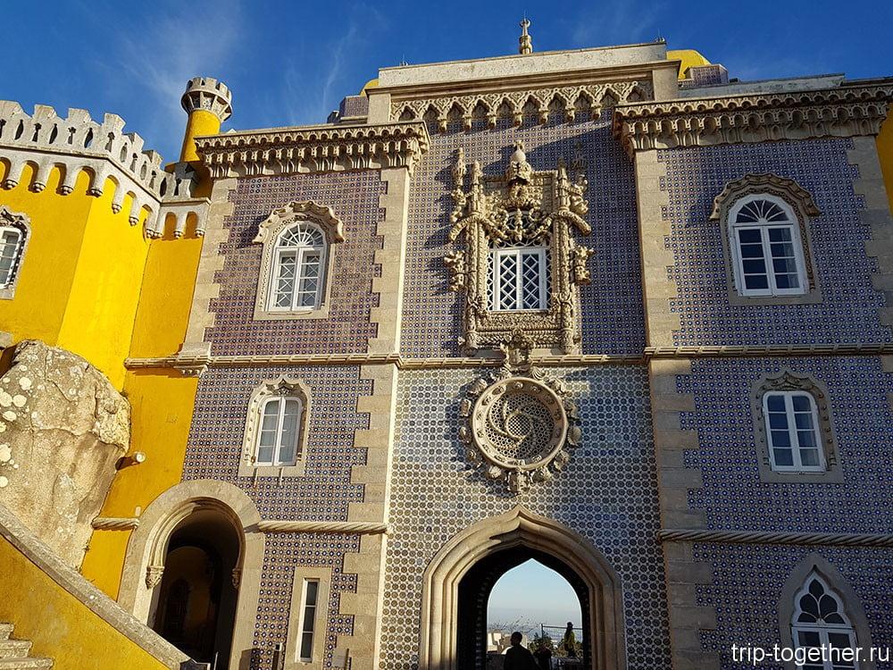 Дворец Пена, окно подобное аналогичному в монастыре Томар
