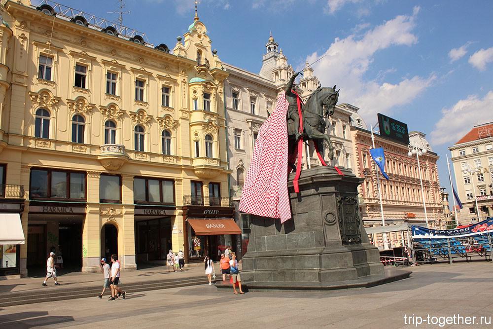 Загреб - площадь Бана Йосипа Елачича