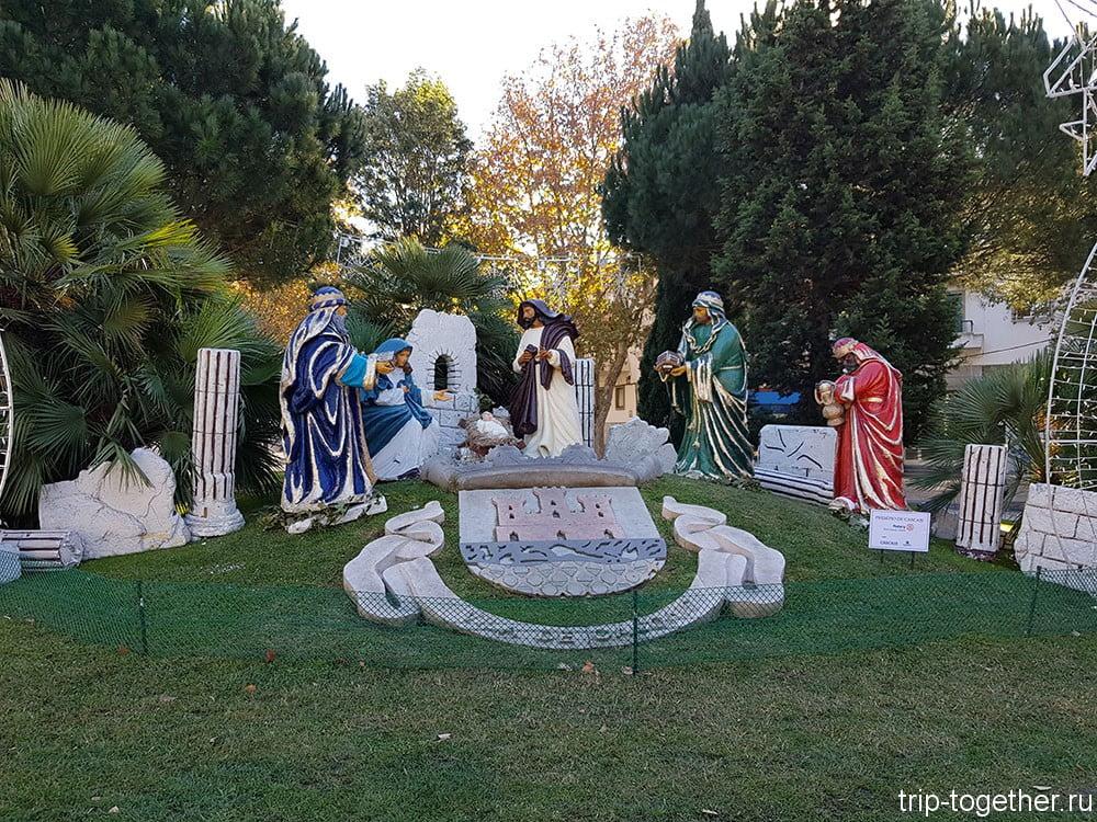 Рождественская композиция в Кашкаише