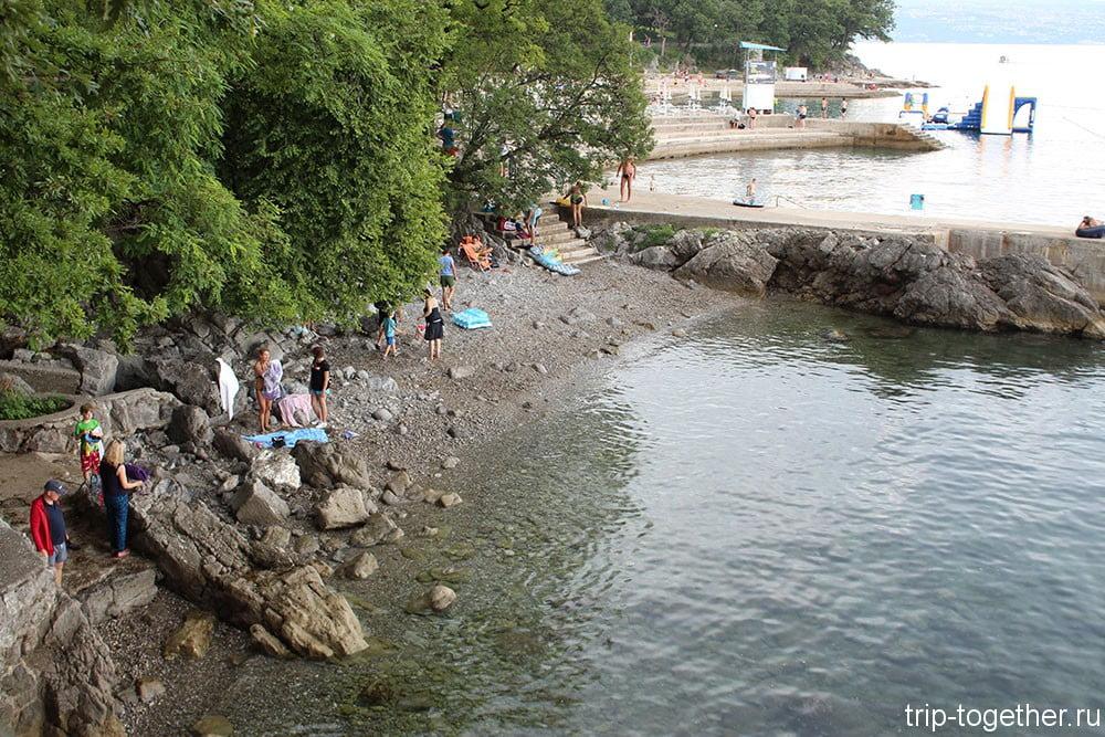 Пляж Ловрана