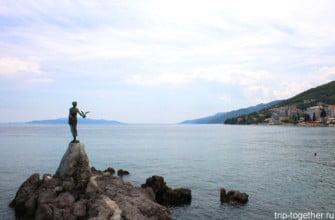 Девушка с чайкой, Опатия, Хорватия