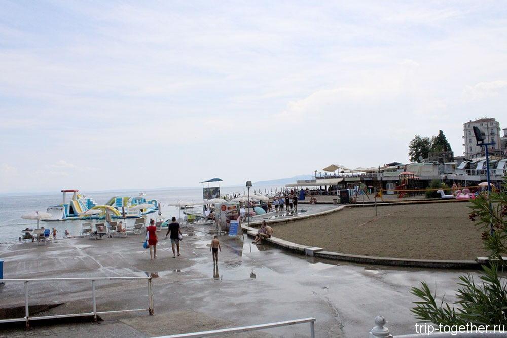 Пляж Слатина в Опатии