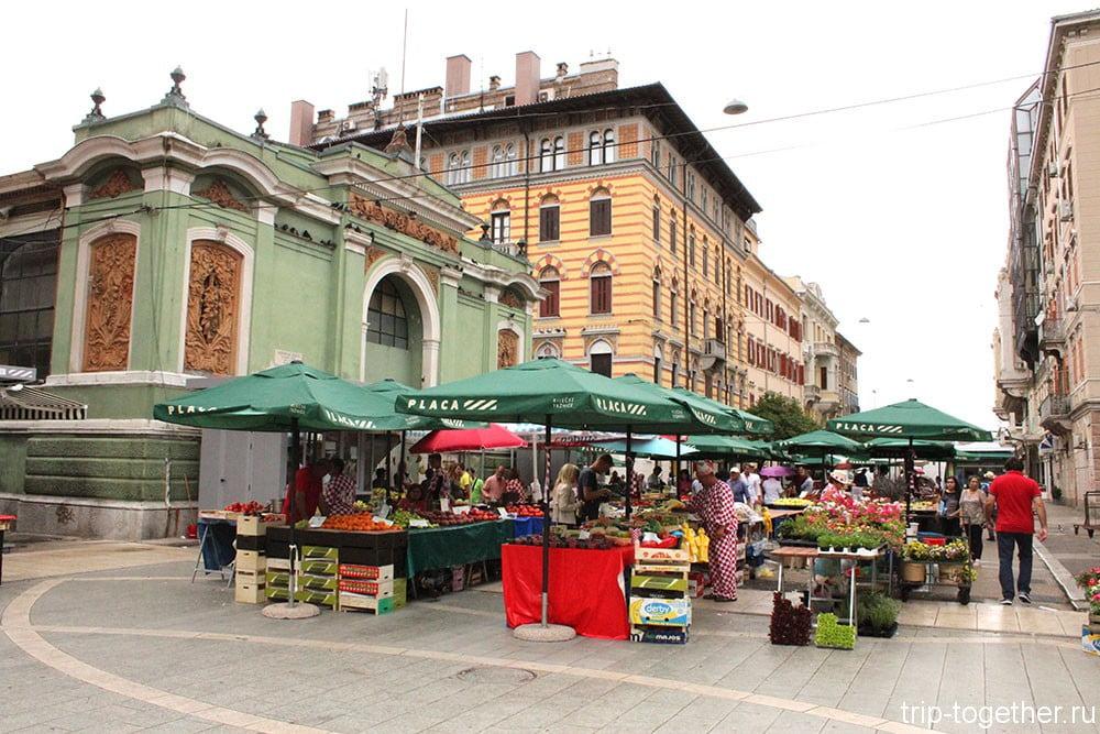 Риека. фермерский рынок
