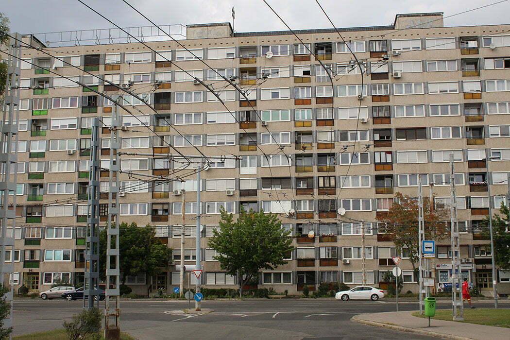 Панельная многоэтажка в Будапеште