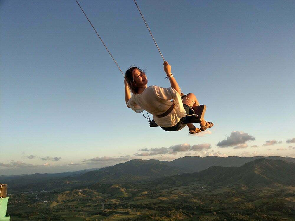 Небесные качели на горе Редонде. Доминикана.