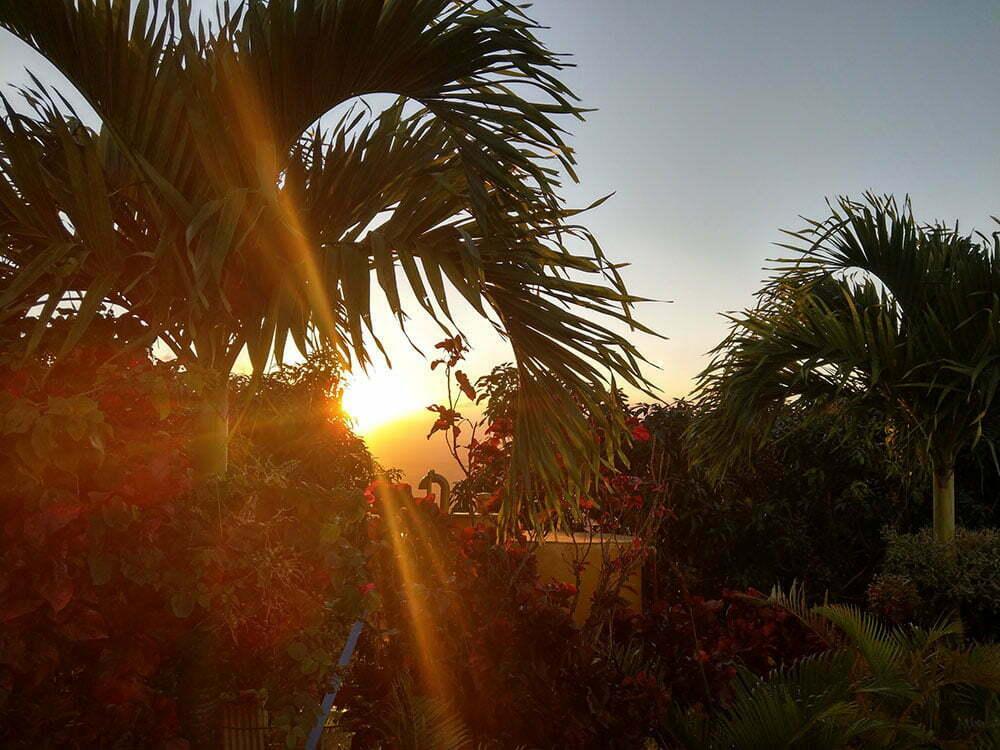 Закат на горе Редонда. Доминикана.