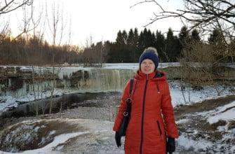 Водопад Ягала зимой